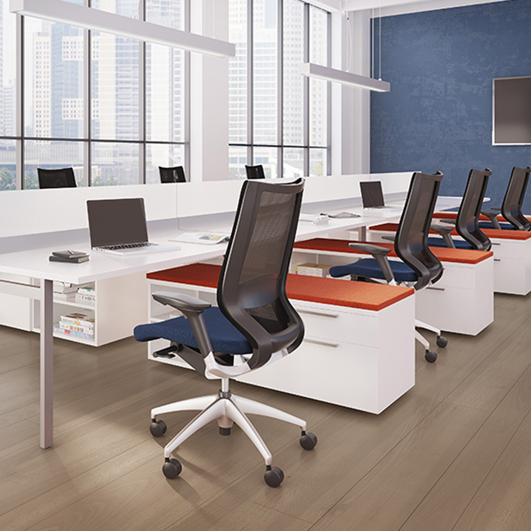staks benching - office furniture chicago | new | rental | used