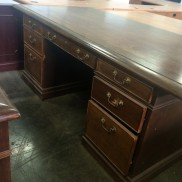 double pedestal traditional desk