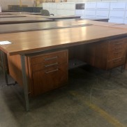 vintage double pedestal desk
