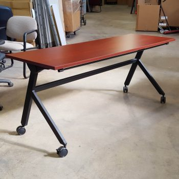 Used 6' Basyx Chestnut Training Tables