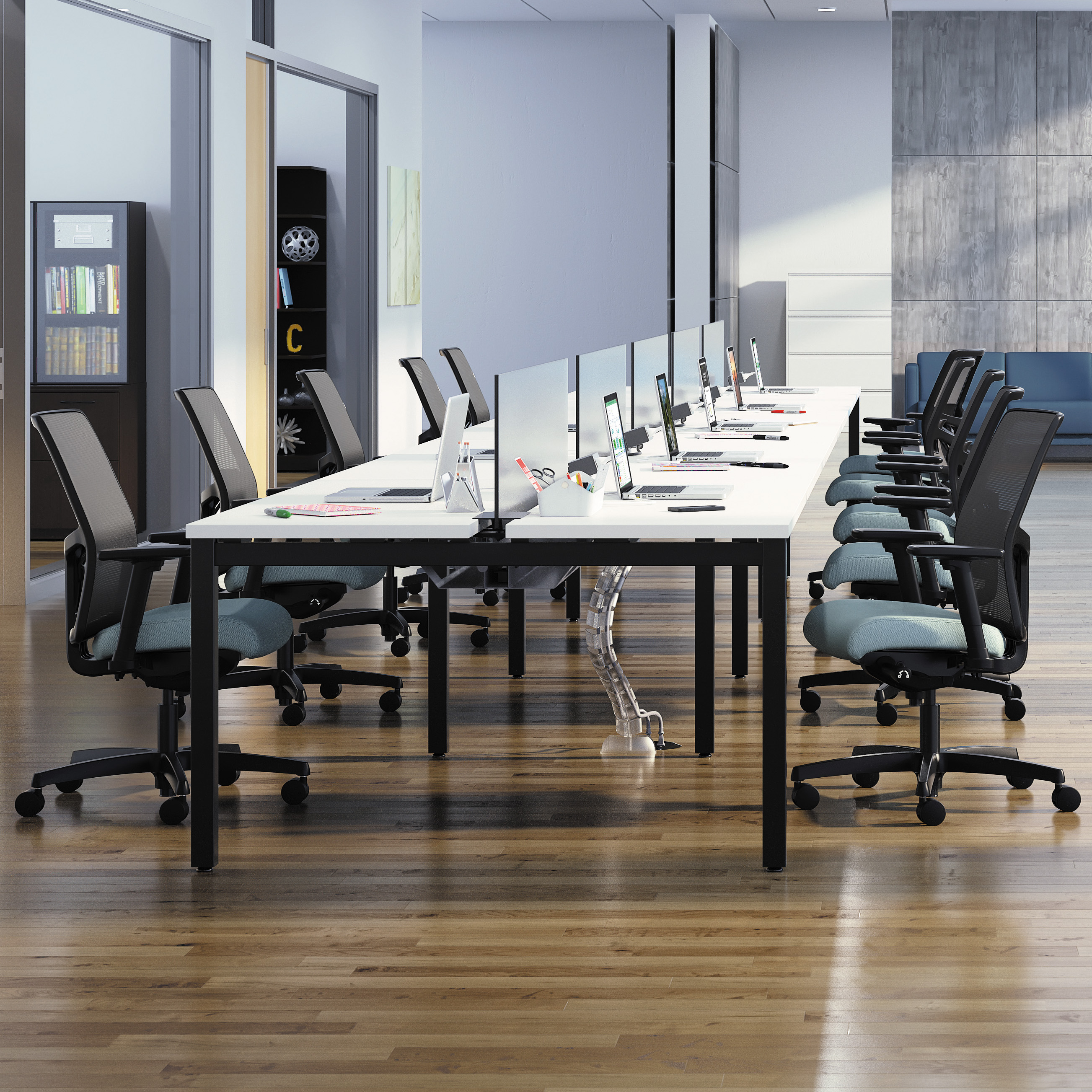 Office Furniture: Open Plan (Benching) Rental Systems