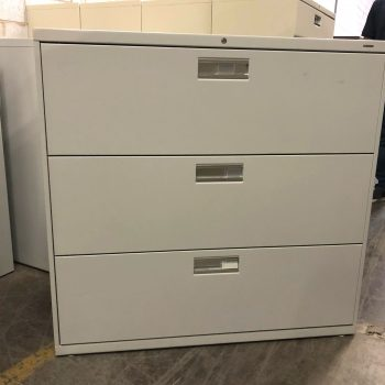 Used HON 42W 3-Drawer Lateral File