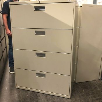 Used HON 30W 4-Drawer Lateral File