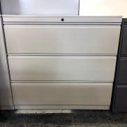 Used 42W 3-Drawer Lateral File