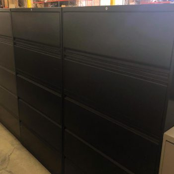 Used HON 36W 5-Drawer Lateral File