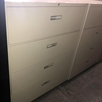 Used Steelcase 42W 4-Drawer Lateral File