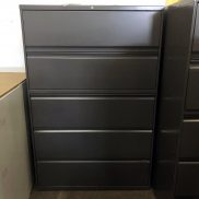 Used HON 42W 5-Drawer Lateral File