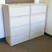 Haworth 30W 4-Drawer Lateral File