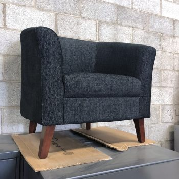 Used Lorell Barrel Armchair