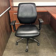 Used Black Leather Conference Chair