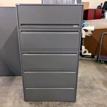 Used Haworth 36W 5-Drawer Lateral File