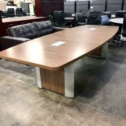 Used 10' Boat Shape Conference Table