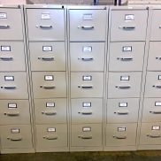 Used HON 5-Drawer Vertical File (Letter)