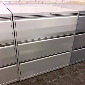 Used Haworth 36W 3-Drawer Lateral File
