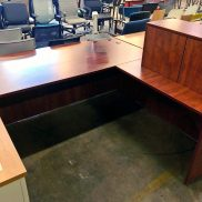 Used PL Cherry L-Shape Desk
