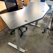 Grey Height-Adjustable Table